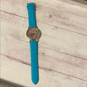 Glitter watch with Teal/Blue Band